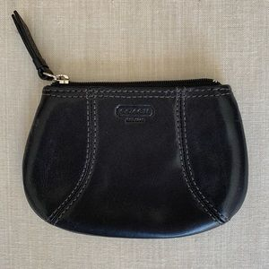 Couch Black Leather Coin Purse